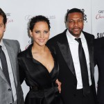 """Cast members and actors Cooper, Lawrence, Tucker and director Russell arrive at a special screening of their new movie """"Silver Linings Playbook"""" in Beverly Hills"""