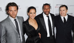 "Cast members and actors Cooper, Lawrence, Tucker and director Russell arrive at a special screening of their new movie ""Silver Linings Playbook"" in Beverly Hills"