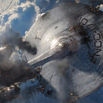 "Star trek into darkness: le ""super enterprise"" chute sur Londre"