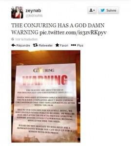 conjuring les dossiers warren affiche alerte