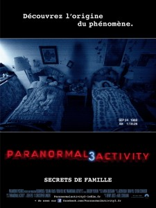 Paranormal activity 3 : affiche du film | ciné buzz