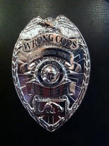 plaque wrong cops