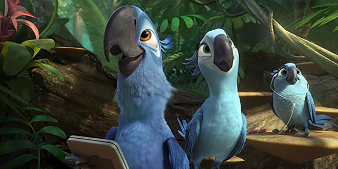 Blu & Perla dans RIO 2 TM and © 2014 Twentieth Century Fox Film Corporation. All rights reserved.